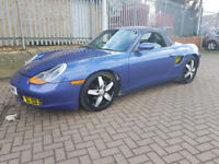 PORSCHE BOXSTER 2.5 CONVERTIBLE SERVICED 200 MILES AGO 15XSERVICE STAMPS SEPT 2018 MOT LEATHER 2KEYS