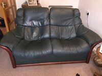 Ercol 2 Seater Reclining Leather Sofa