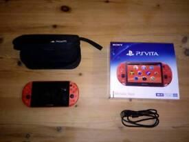 Rare neon orange PS Vita. Japan import
