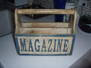 Distressed wooden magazine holder Manly Vale Manly Area Preview