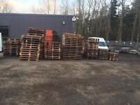 Euro and other palettes for sale, about 150 pallets