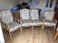 Cane Furniture with padded seats