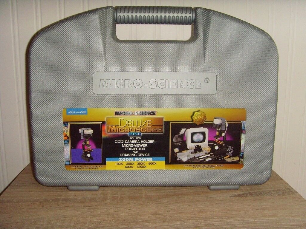 MICRO SCIENCE DELUXE MICROSCOPE SET -£10