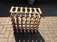Timber and steel wine rack