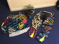 Fox Motorcross helmet, Goggles, Shirt and trousers