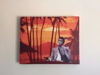Scarface / Al Pacino canvas print / painting on wooden frame