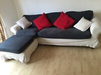 **Priced to sell** L-Shape IKEA corner sofa with washable covers and cushions, priced to see ONO