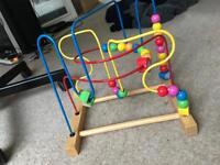 Children's activity bead coaster