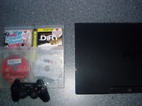 PlayStation 3 with console + 4 games sing star, little big planet, dirt, fifa 13