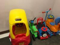 kids ride on toys bundle
