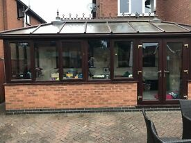 Brown UPVC Conservatory, Buyer to dismantle only £200