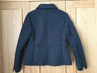 Ladies Navy Quilted Hobbs Jacket, size 10 (Worn Once)
