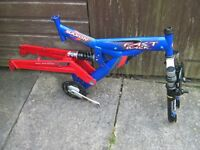 """Saxon""""Fast Back""""Front and Rear suspension 19""""Heavy duty Mountain bike Frame, Suitable for 26""""wheels"""