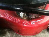 Petrol lawn mower. Honda engine