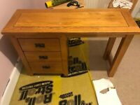 Wooden Desk with Drawers in Perfect Conditions