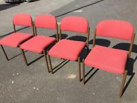 Set of 4 x Visitors / Office Chairs