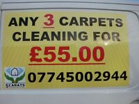 Any 3 Carpets Cleaning with 5carats CS for 55,oo !