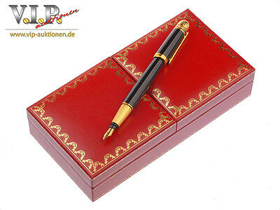 Cartier Pasha °1992 Fountain Pen 18 k gold nib fountain pen feather pen
