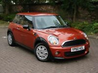 EXCELLENT LOOKS!!! 2010 MINI HATCH 1.6 ONE D 3dr, 1 YER MOT, DIESEL, WARRANTY
