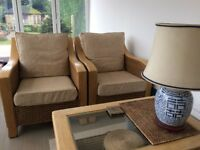 conservatory furniture, 2 armchairs, table and 2 seater sofa,perfect condition