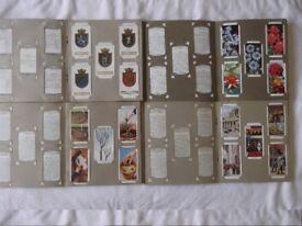 4 sets Wills cigarette cards - Ship's Badges, Garden Flowers, Garden Hints, George V