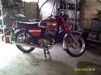 1977 jawa 350 classic bike full test. exempt tax . vgc runs well