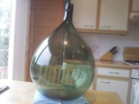 Large Carboy hand blown Vintage brewing