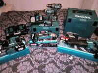 makita dril. grinder.saw battery and charger