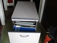 Two drawer filing cabinet, deep drawers