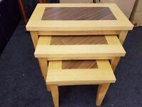 Madrid Oak 3 Piece Nest of Table