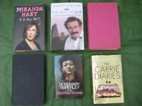 6 Hardback Books - 3 Novels and 3 Personality Biographical/Viewpoints for £2.00 EACH