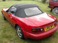 MX5 1.8 Soft top. Sorned and No MoT, so selling as Spares or repairs