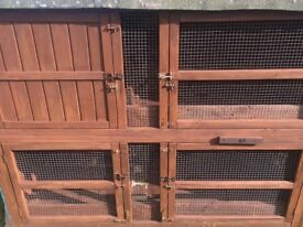 Pets At Home Large 2 Storey Rabbit Hutch 'The Manor'