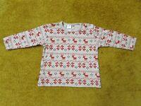 NEXT baby boy girl top christmas motif reindeer 6-9 months