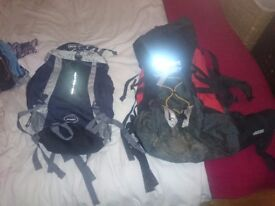 2 Hiker style rucksacks