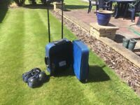 Outdoor bowls set with 4 bowls and trolley bag