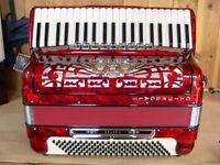 Morbidoni, 4 Voice, Musette Tuned, 120 Bass, Piano Accordion.