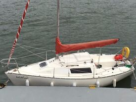 Parker 21 trailer sailer for sale - tow, launch, sail - great value located in Devon