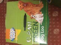 Green clean dog loo by good boy