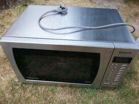 Panasonic Inverter Digital Microwave Oven Family Size Stainless Steel Interior Vgc