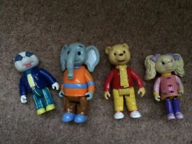 Rupert Bear Characters - bear, badger, elephant and dog