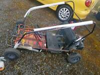 Barn find old clarke two seater kart