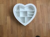 Heart shape storage shelf