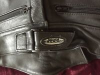 Ladies Scott Leather Motorcycle Trousers - size small