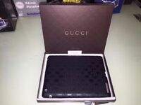 Genuine Boxed from Italy Excellent Condition Gucci Black Logo Silicone iPad2 Protection Case