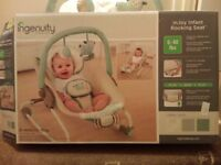 Ingenuity Injoy Infant Rocking Seat, Lullaby Lamb. Rarely used £10