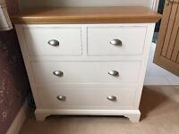 John Lewis Helston 4 drawer chest, ivory