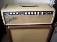 Fender bandmaster vintage valve amplifier 1963 UK voltage