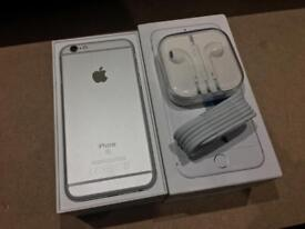 iPhone 6S 64GB Factory Unlocked Silver Excellent Condition Boxed with Genuine Lead & Handsfree