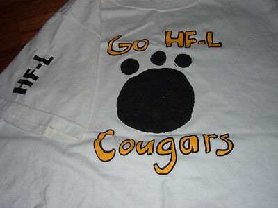 Go Honeoye Falls-Lima Cougars Youth Football & Cheerleading Paw Print T-shirt NY ()